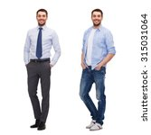 business and casual clothing... | Shutterstock . vector #315031064