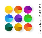 9 Vector Brightly Colored...