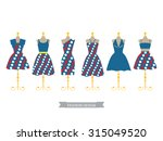 set of red and blue color polka ... | Shutterstock .eps vector #315049520
