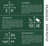 mathematics template on... | Shutterstock .eps vector #315058766