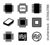 cpu microprocessor and chips... | Shutterstock .eps vector #315062588