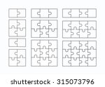 jigsaw puzzle vector templates... | Shutterstock .eps vector #315073796