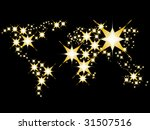 world map made with shiny stars | Shutterstock .eps vector #31507516