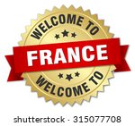 france 3d gold badge with red...   Shutterstock .eps vector #315077708
