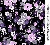 seamless pattern with flowers... | Shutterstock .eps vector #315083834