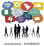 media communication technology...   Shutterstock . vector #315084020
