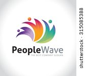 people wave vector logo template | Shutterstock .eps vector #315085388