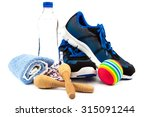 sport shoes  equipment isolated ... | Shutterstock . vector #315091244