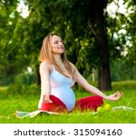 young pregnant  woman... | Shutterstock . vector #315094160