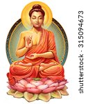 Illustration With Buddha In...
