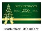 green christmas gift... | Shutterstock .eps vector #315101579