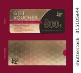 gift voucher template with...