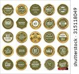 vector badges of golden set | Shutterstock .eps vector #315118049