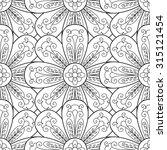 vector flower seamless pattern. ... | Shutterstock .eps vector #315121454