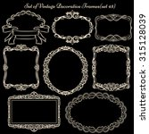 set of decorative vintage... | Shutterstock .eps vector #315128039