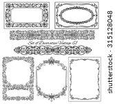 set of decorative vintage... | Shutterstock .eps vector #315128048