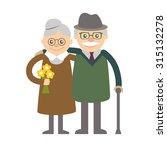 couple of older people.... | Shutterstock .eps vector #315132278