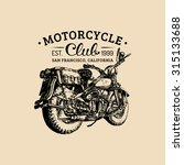 vector hand drawn motorcycle... | Shutterstock .eps vector #315133688