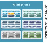 forecast weather icon set....   Shutterstock .eps vector #315137009