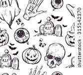 Seamless Halloween Pattern....
