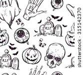 Seamless Halloween Pattern....