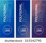 vertical  polygonal banners   Shutterstock .eps vector #315142790