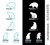 Blue White Polar Bear Logo...