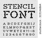 western style retro alphabet... | Shutterstock .eps vector #315146864