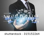 social network structure in a... | Shutterstock . vector #315152264