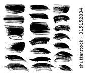 textured long strokes big set... | Shutterstock .eps vector #315152834