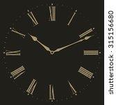 clock vector illustration on... | Shutterstock .eps vector #315156680