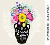 sweet illustration of bouquet... | Shutterstock .eps vector #315159314