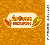 vector autumn season background | Shutterstock .eps vector #315161156
