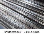 a sheet metal profiles of close ... | Shutterstock . vector #315164306