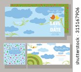save the date card made of cute ... | Shutterstock .eps vector #315167906