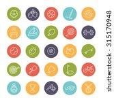 sports and gymnastics round... | Shutterstock .eps vector #315170948