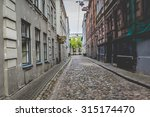 morning street in medieval town ... | Shutterstock . vector #315174470
