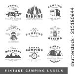 set of vintage camping labels.... | Shutterstock . vector #315180644