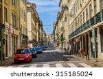 lisbon  portugal. a street in... | Shutterstock . vector #315185024