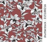 summer garden blooming... | Shutterstock . vector #315188216