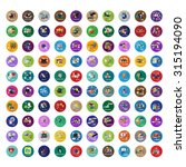 flat icons set  vector... | Shutterstock .eps vector #315194090