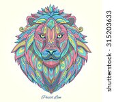 lion pastel color ornament... | Shutterstock .eps vector #315203633