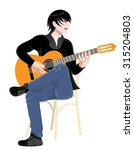young musician playing the...   Shutterstock .eps vector #315204803