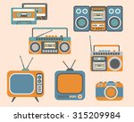 retro media electronics  icons... | Shutterstock .eps vector #315209984