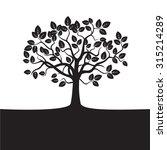black vector tree | Shutterstock .eps vector #315214289