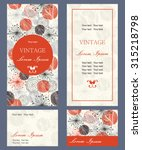set of invitation cards | Shutterstock .eps vector #315218798