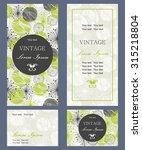 set of invitation cards | Shutterstock .eps vector #315218804