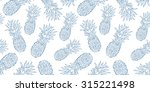 blue ink hand drawn isolated... | Shutterstock .eps vector #315221498