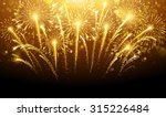 holiday fireworks on dark... | Shutterstock .eps vector #315226484