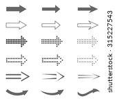 arrow sign set. web internet... | Shutterstock .eps vector #315227543